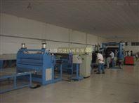 PE塑料土工格室冲孔板材生产线