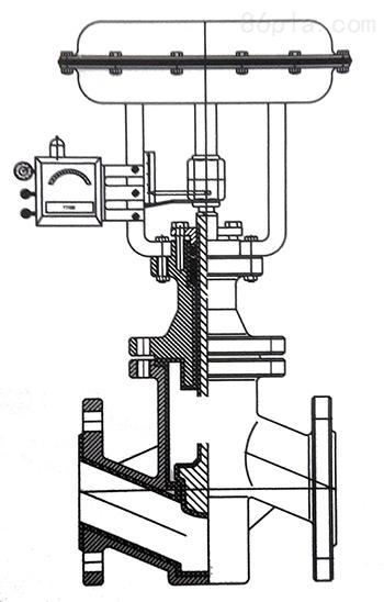 上海科科阀门气动调节阀原理-结构图-接线图-价格