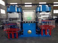 青岛鑫城全自动双联250T真空平板硫化机 抽真空硫化机价格