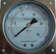 方边盘装耐震压力表YN100ZQ