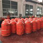 盐井河水库自浮式拦污漂拦垃圾浮筒安装