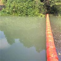龍灘水庫閘口漂浮桶管式攔污排施工安裝
